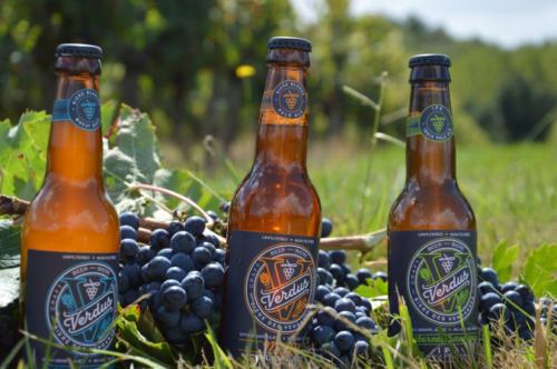 Verdus, bière au jus de raisin, plage grappes